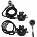 APEKS XTX50 / TEK3 x 2 - zestaw z manometrem