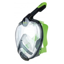 SEAC UNICA S/M TRANSPARENT/BLACK/LIME maska pelnotwarzowa do snorkelingu