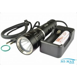 Latarka HI-MAX X5, 1100 lm - zestaw