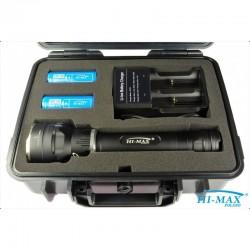 Latarka HI-MAX X7, 3000 lm - zestaw