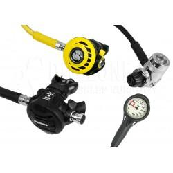 APEKS XTX50/DS4 + Octopus ATX40 + Manometer