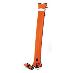 HALCYON Extra duża boja nurkowa (1.8 m), zamknięta, pomarańczowa