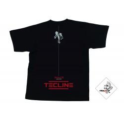 Koszulka TECLINE Deco czarna roz. S