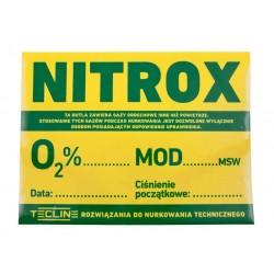 TECLINE Naklejka NITROX 30 x 22,5 cm (pol. wer.)