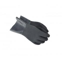 SANTI Suche szare rękawice bez manszet