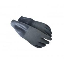 SANTI Suche szare rękawice z manszetami
