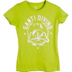 Koszulka SANTI Lady Rebstamp Lime