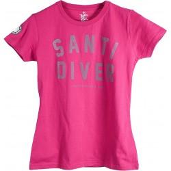 Koszulka SANTI Lady Santi Diver Pink