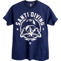 Koszulka SANTI Rebstamp Navy Blue