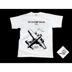 Koszulka TECLINE B-17 biała roz. S