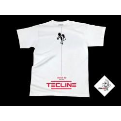 Koszulka TECLINE Deco biała roz. S