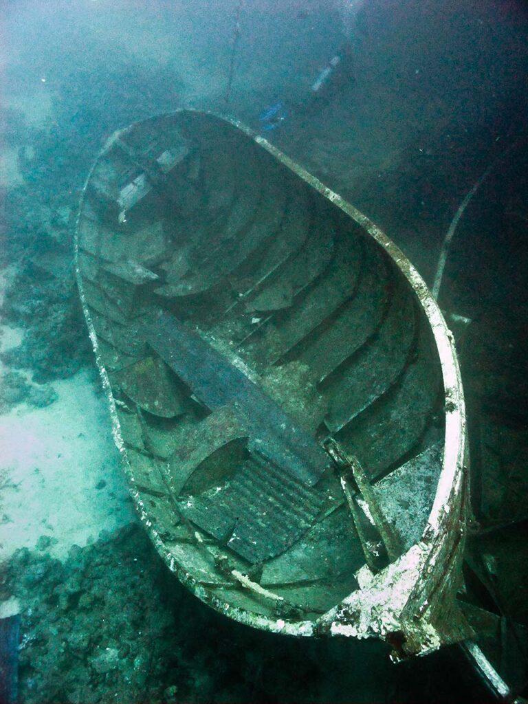 Wrak Salem Express Egipt - łódź ratunkowa