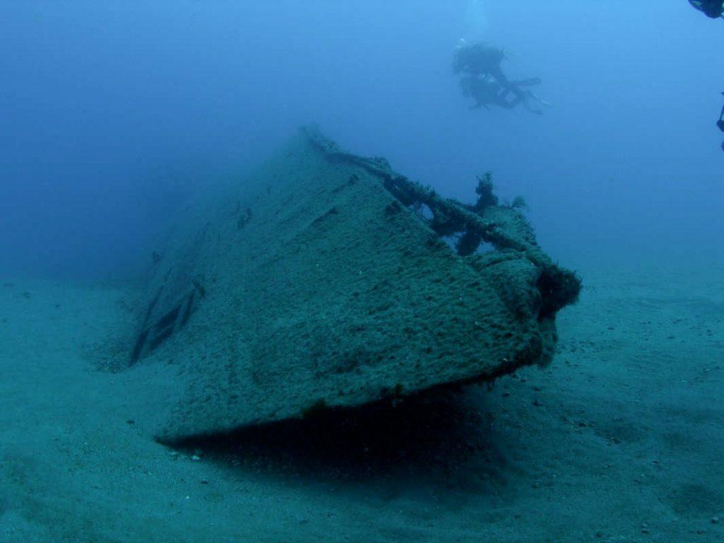 Nurkowanie w Libanie - wrak okrętu podwodnego Souffleur
