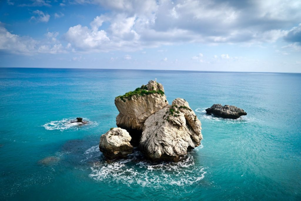 Skała afrodyty na Cyprze