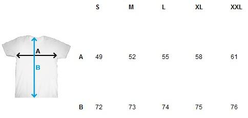 Wymiary T-shirt SANTI męski