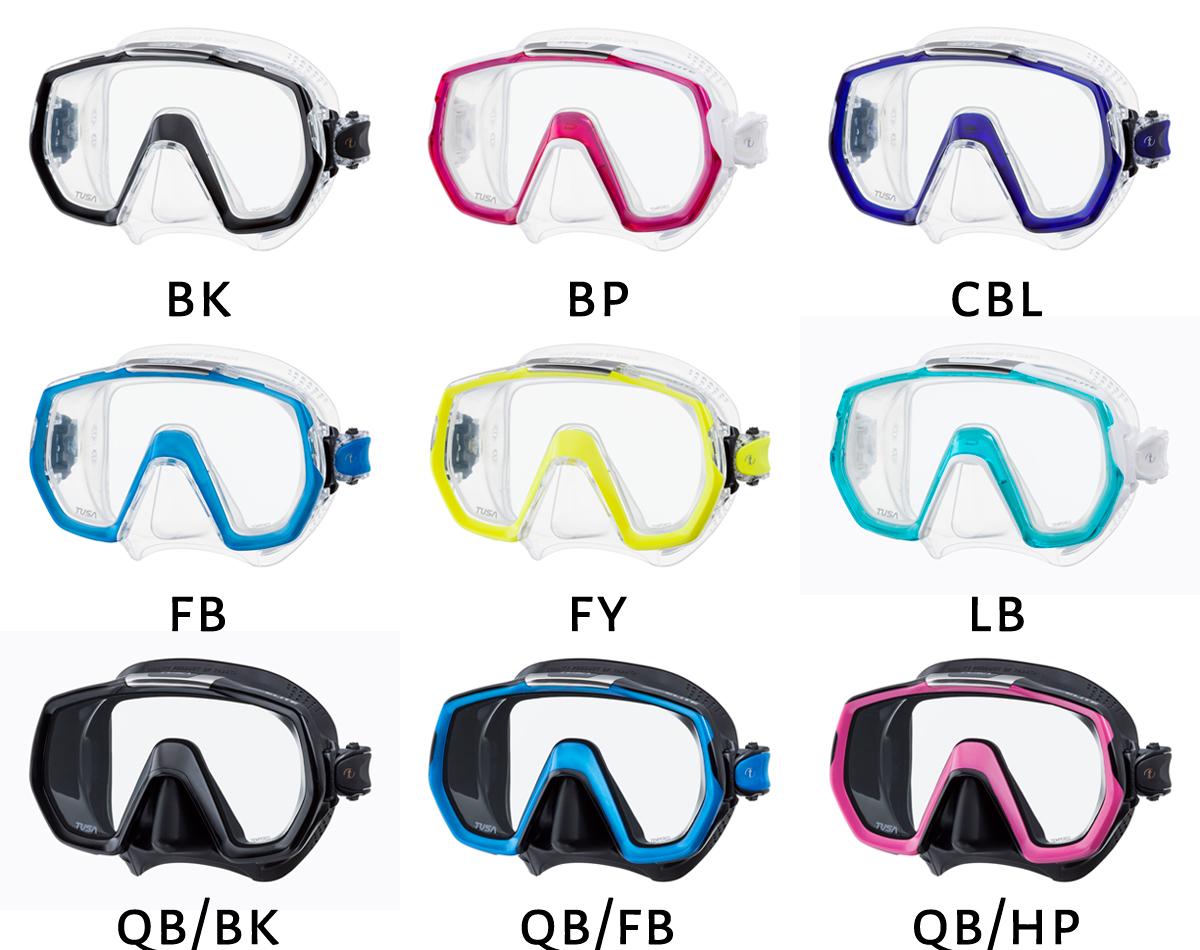 Maska TUSA Freedom Elite (M-1003) - kolory