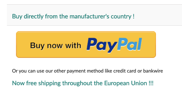 XDEEP payment by PAYPAL & FREE Delivery