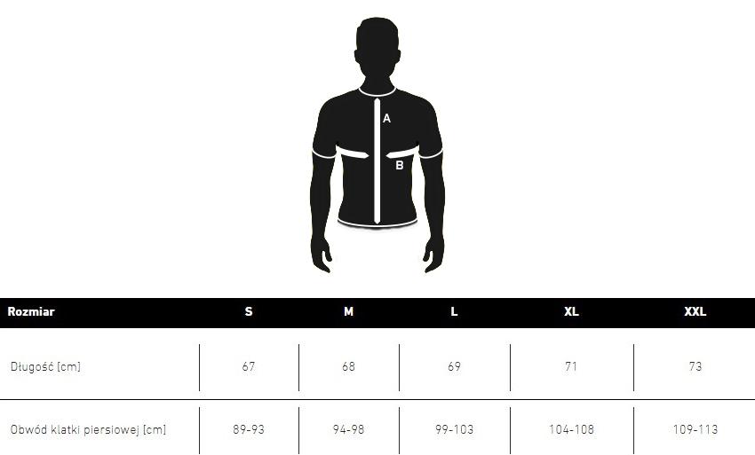 T-shirt XDEEP tabela rozmiarów